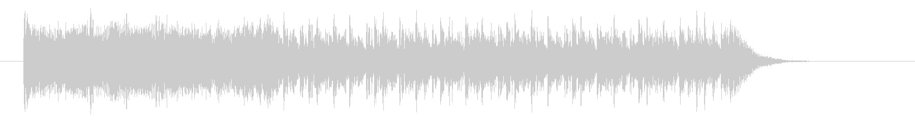 疾走感のあるデジタル系サウンドの未再生の波形
