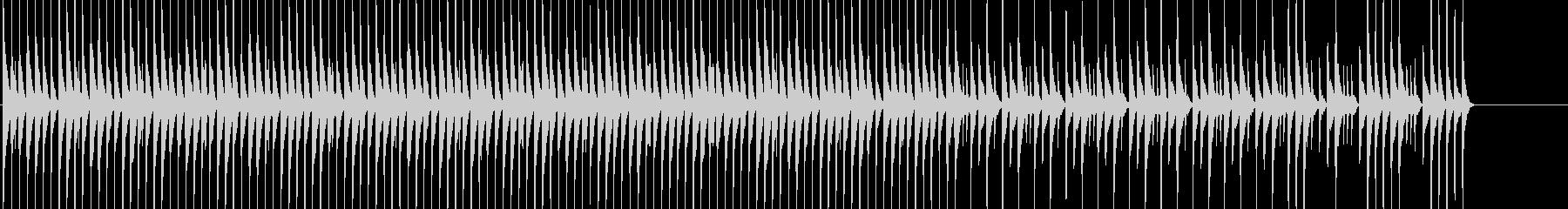 三線を使った淡々としてほのぼのしたBGMの未再生の波形