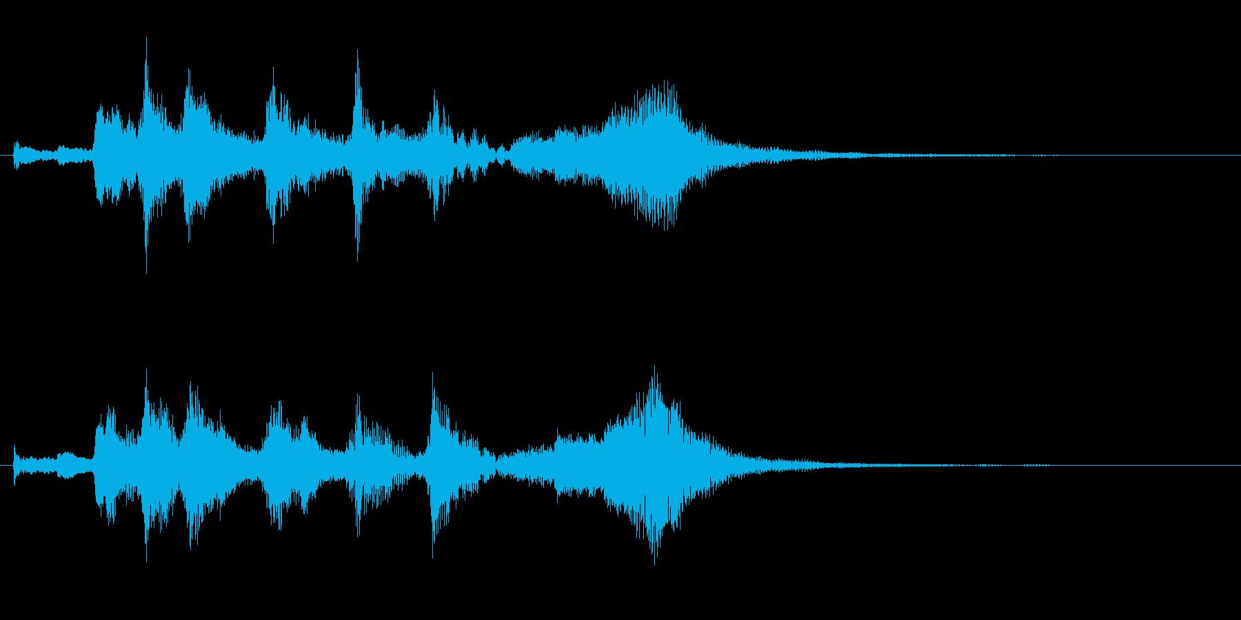 やわらかいオーケストラのジングルの再生済みの波形
