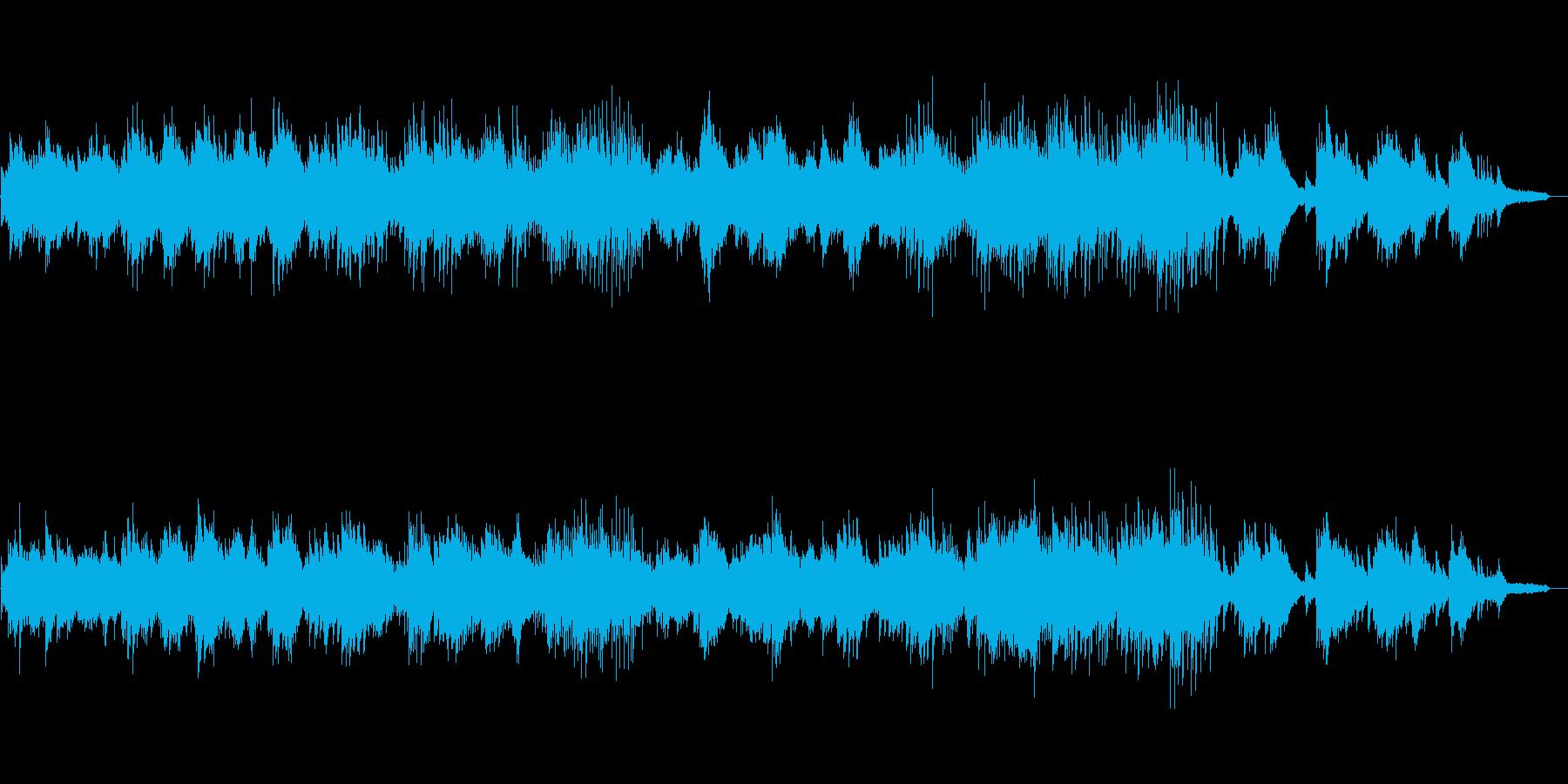 ピアノによるインストバラードの再生済みの波形