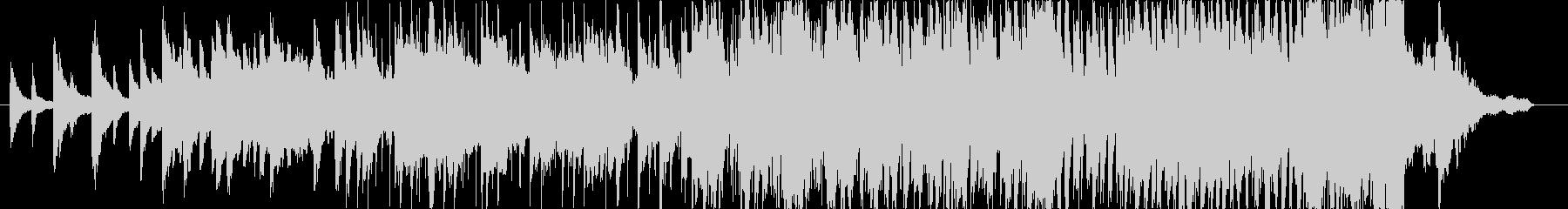 ピアノとシンセの神秘的なBGMの未再生の波形