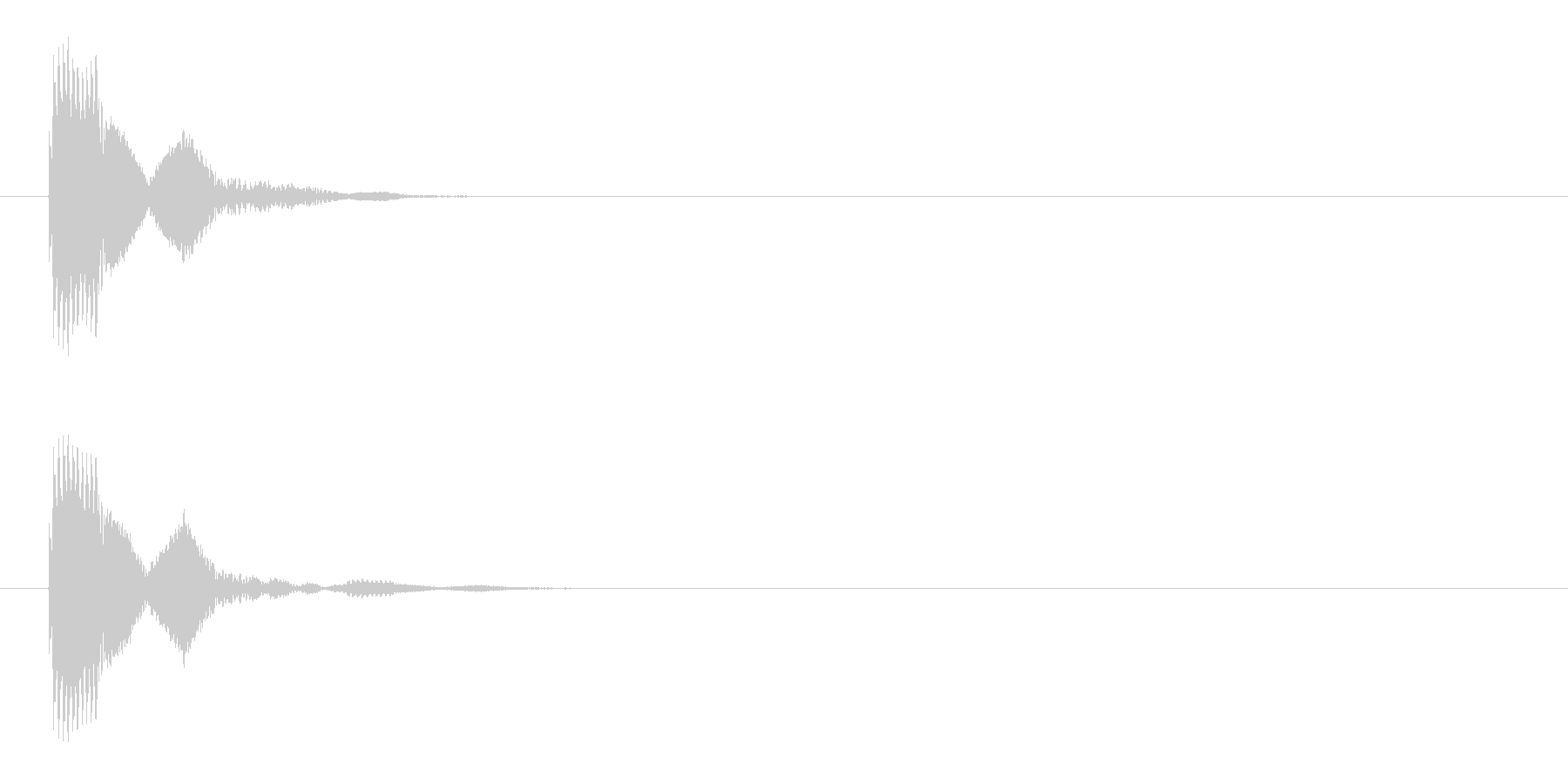 キャンセルや決定ボタン選択音3(ピコン)の未再生の波形
