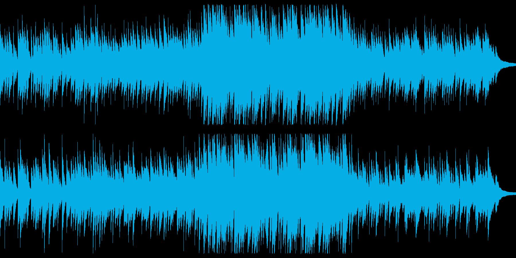 滝の流れの再生済みの波形