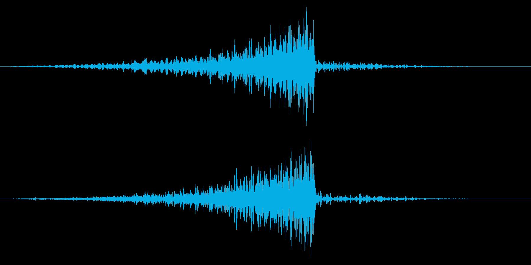 ホラー系アタック音59の再生済みの波形