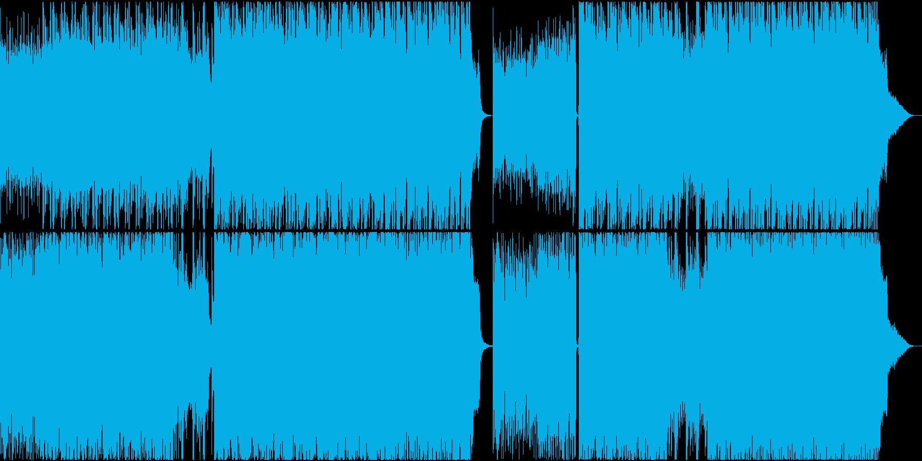 ストリングスにピアノが絡むサントラものの再生済みの波形