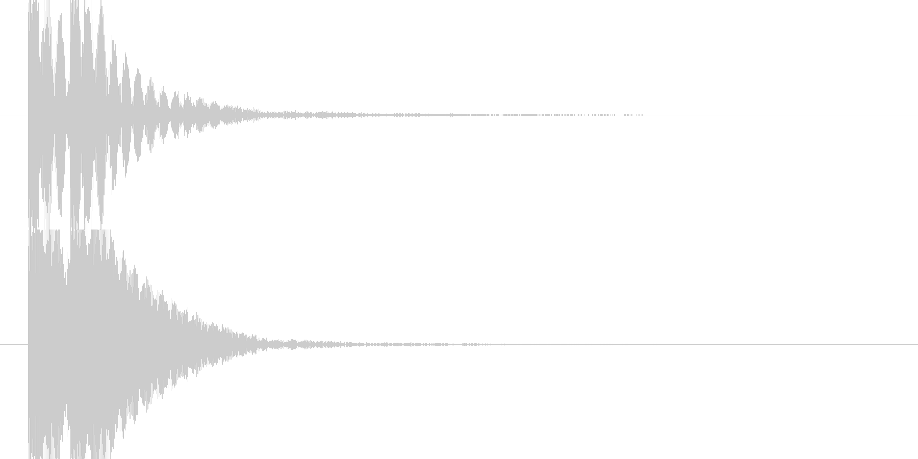 トントン(和太鼓)の未再生の波形