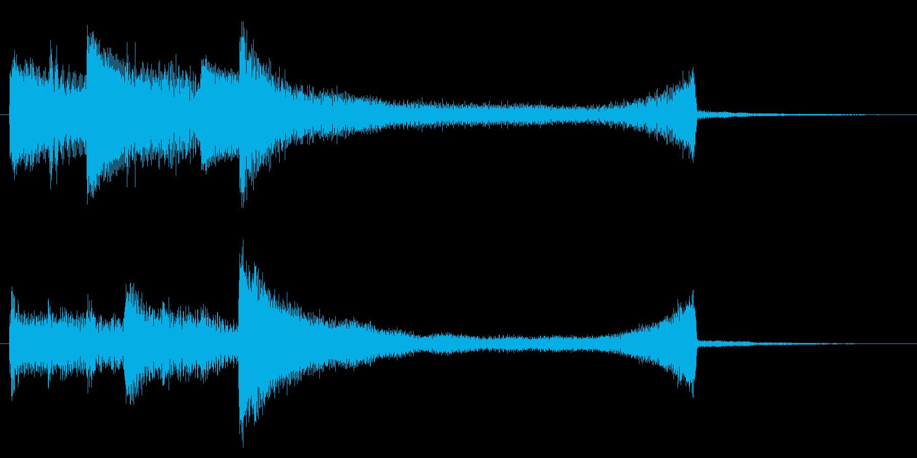 ピアノジングルの再生済みの波形