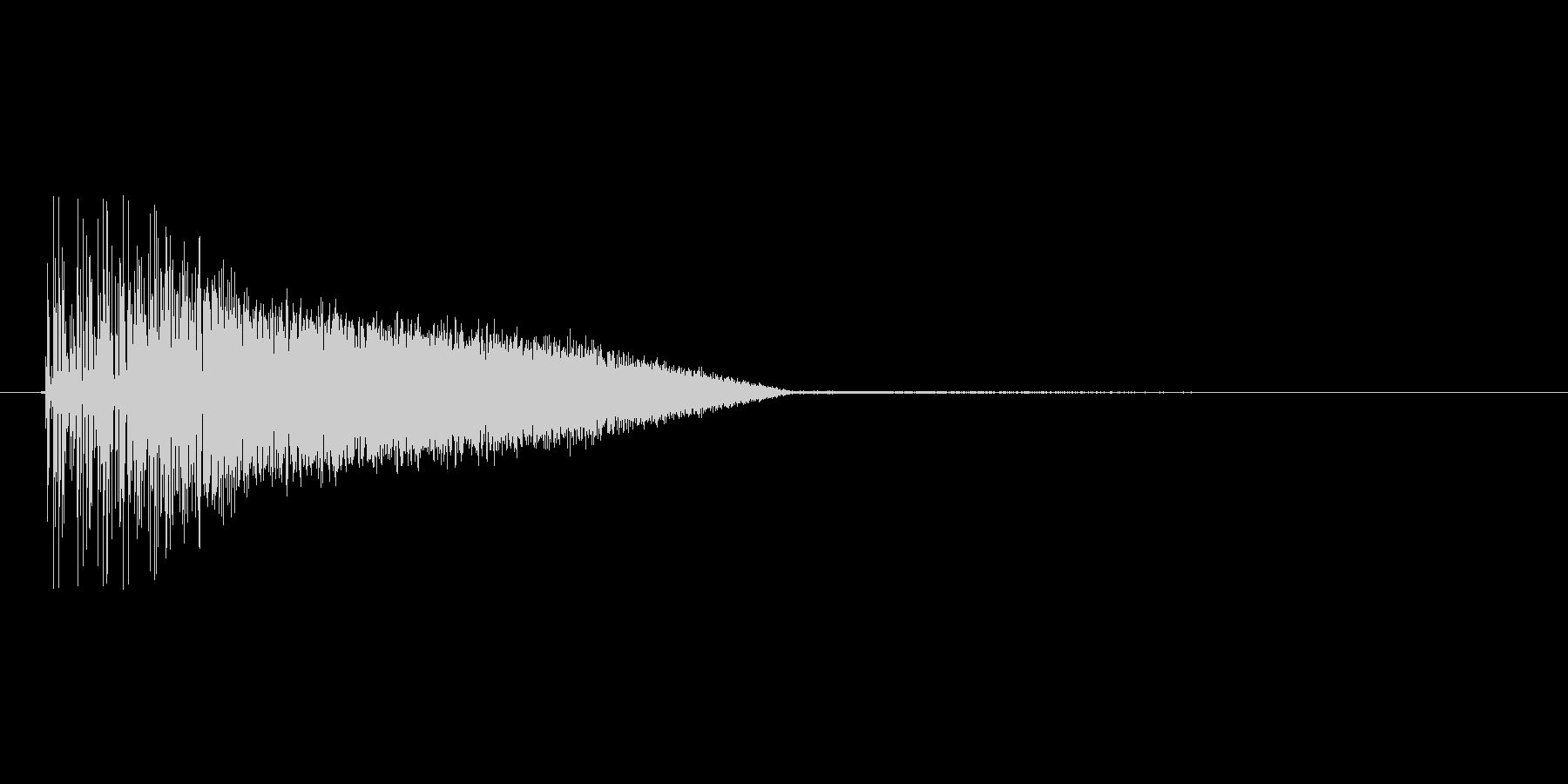 8bitの打撃 ブシャアの未再生の波形