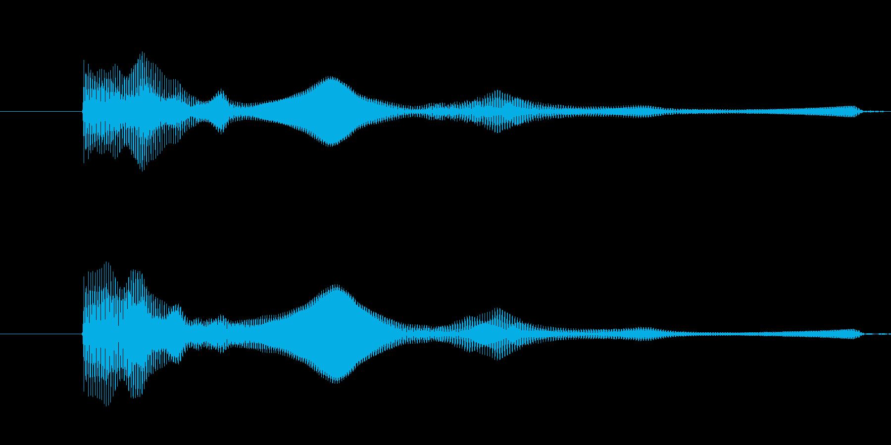 ぽーよん、と下がる音です。の再生済みの波形