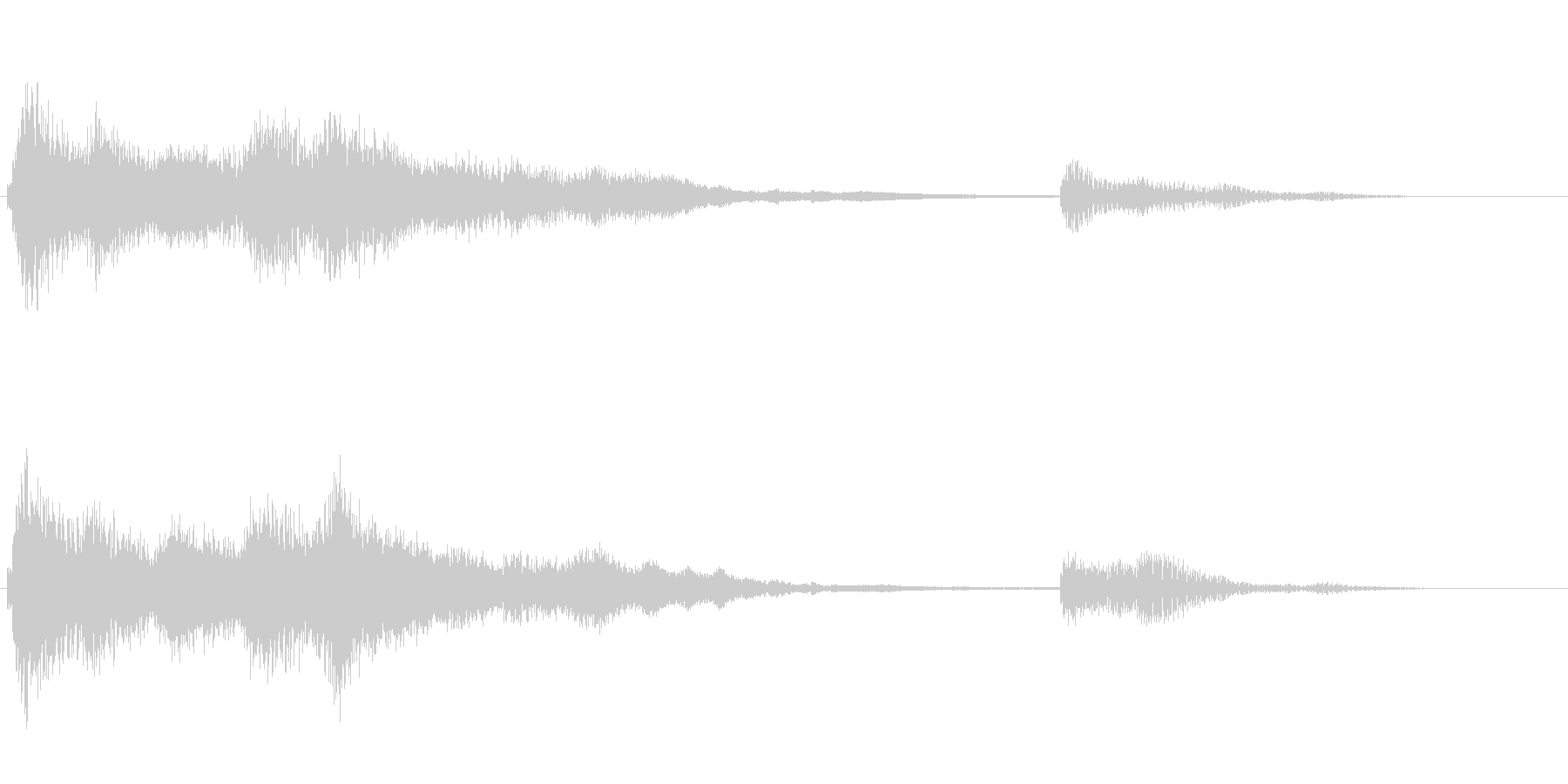 ファンタジーなお風呂アイキャッチ音の未再生の波形