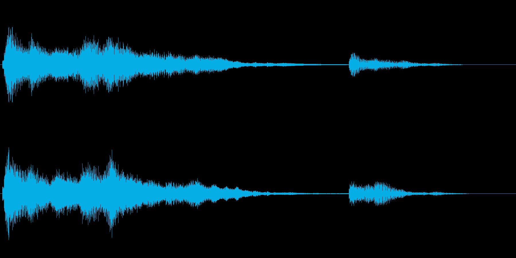 ファンタジーなお風呂アイキャッチ音の再生済みの波形