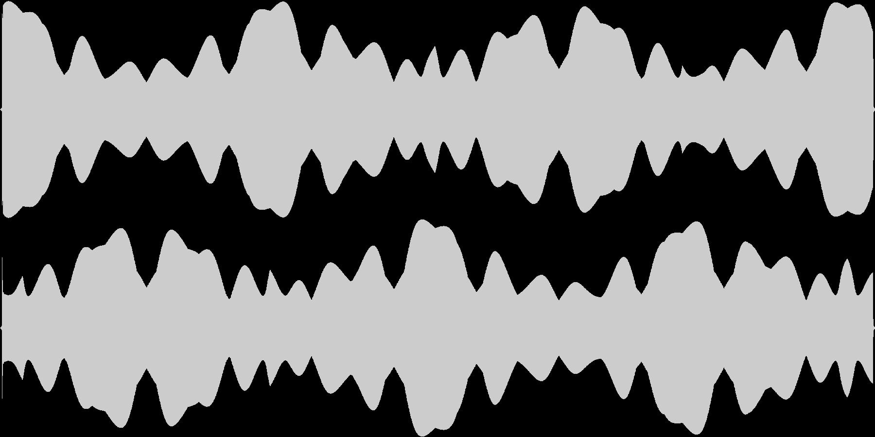 フワフワと浮くイメージSEの未再生の波形