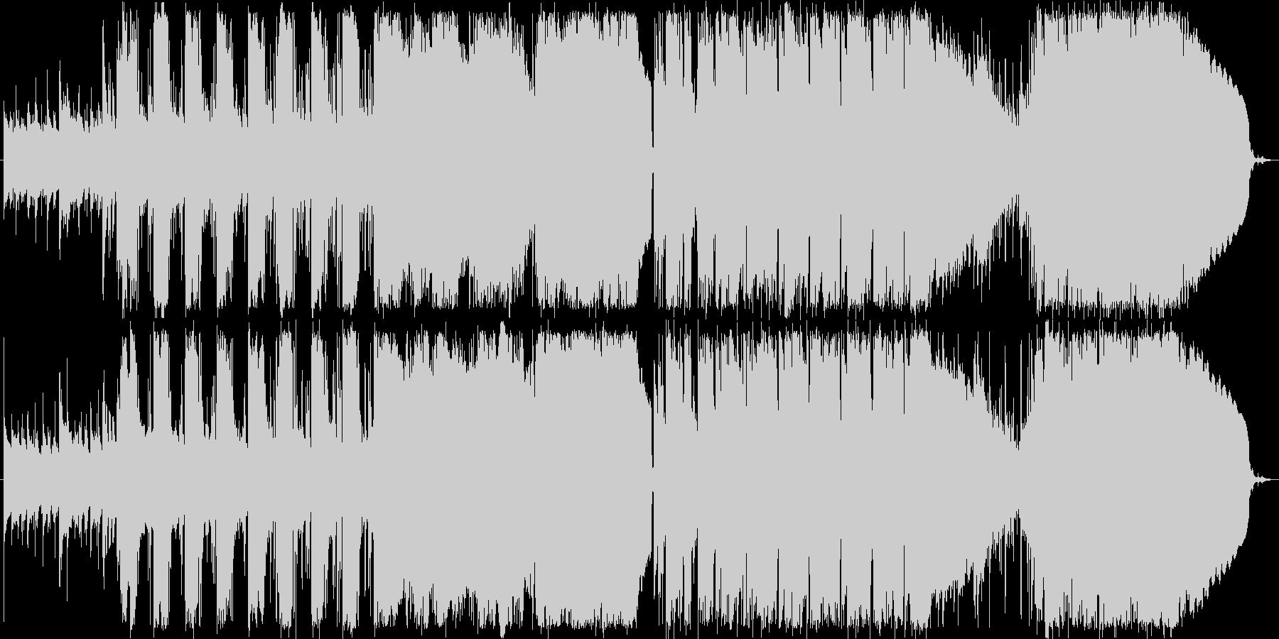 ハミングの入ったさわやかなBGMの未再生の波形