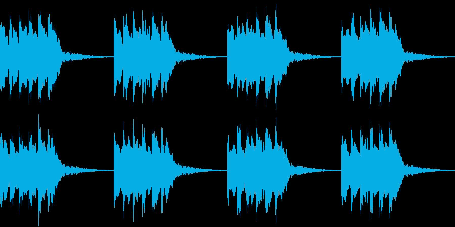シンプル ベル 着信音 チャイム B-5の再生済みの波形
