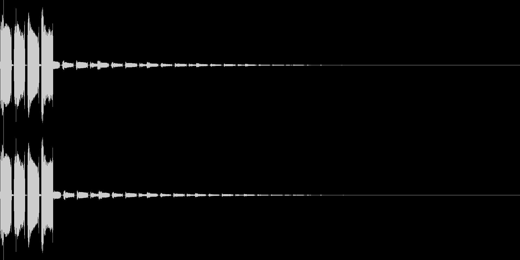 ピコピコン(決定、スタート、アイテム)の未再生の波形