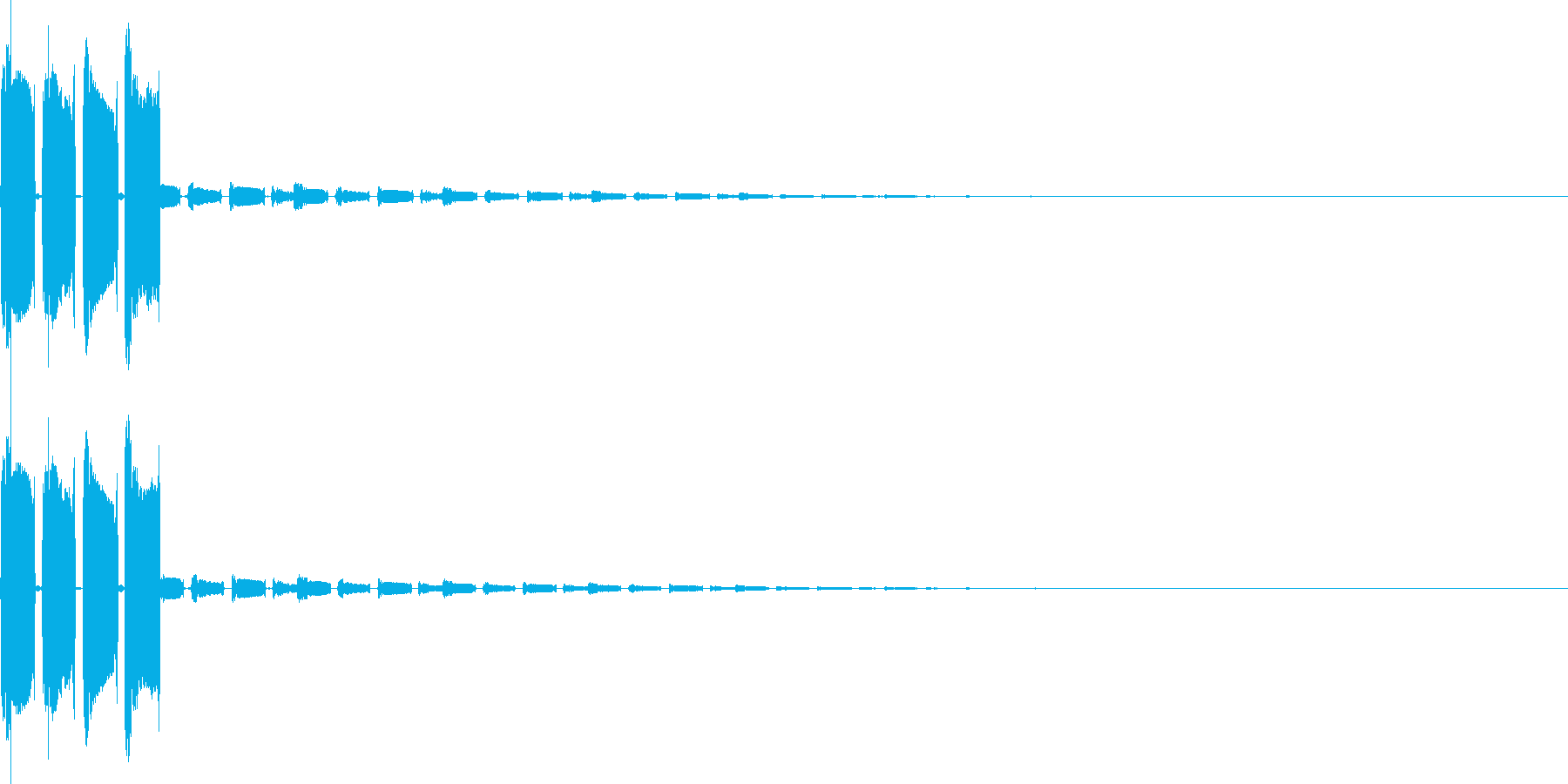 ピコピコン(決定、スタート、アイテム)の再生済みの波形