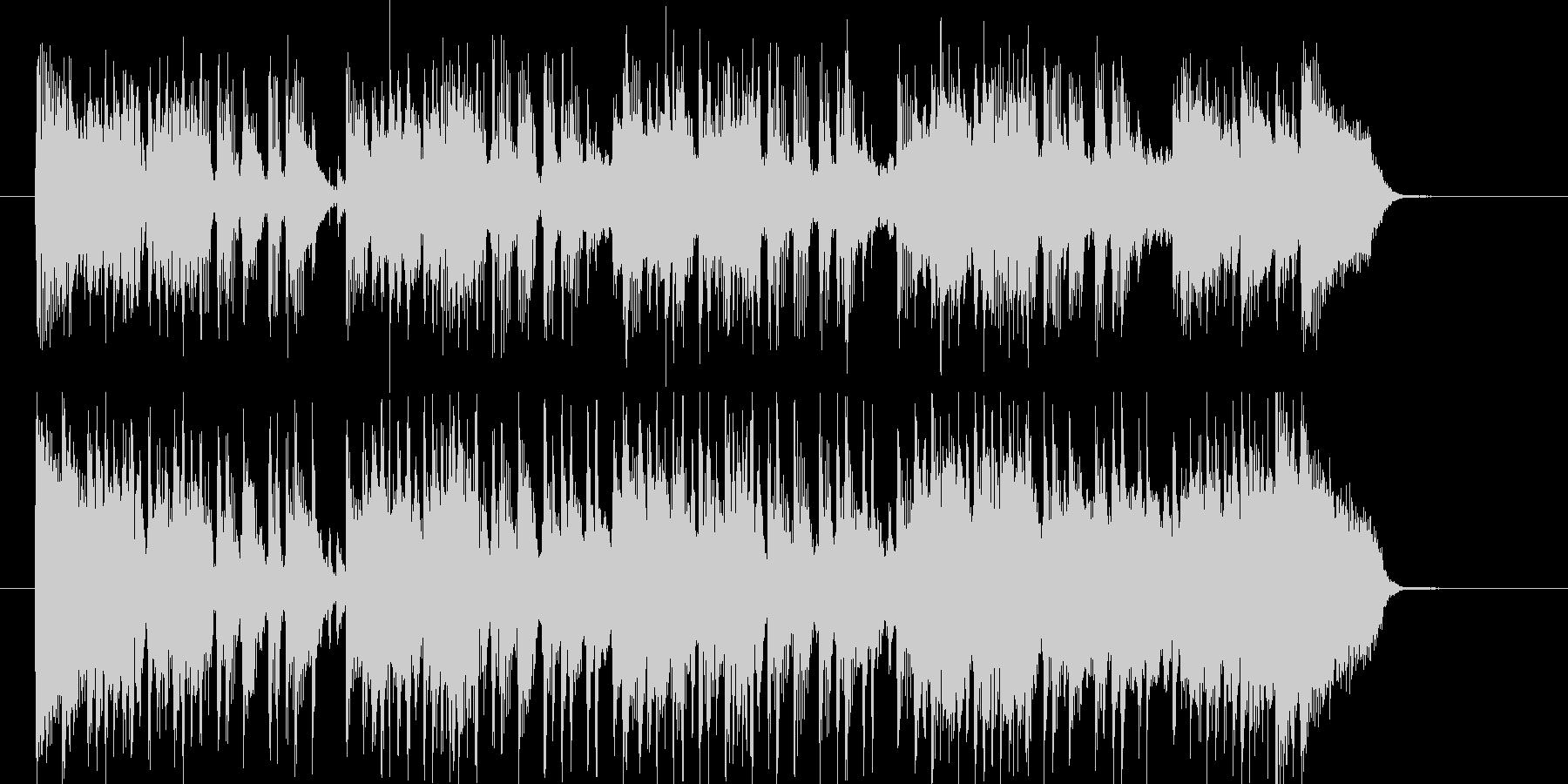 激しくノリが良いロックナンバーの未再生の波形