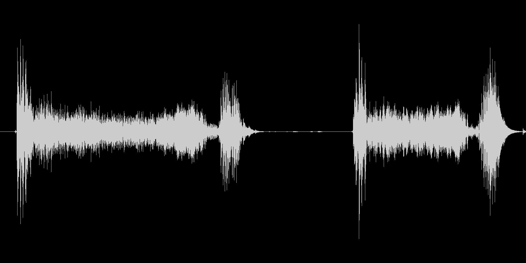 風邪の咳2 ゲホッゲホッの未再生の波形