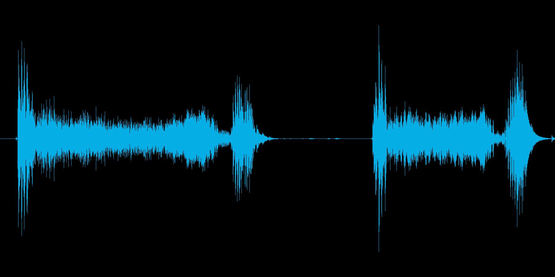 風邪の咳2 ゲホッゲホッの再生済みの波形