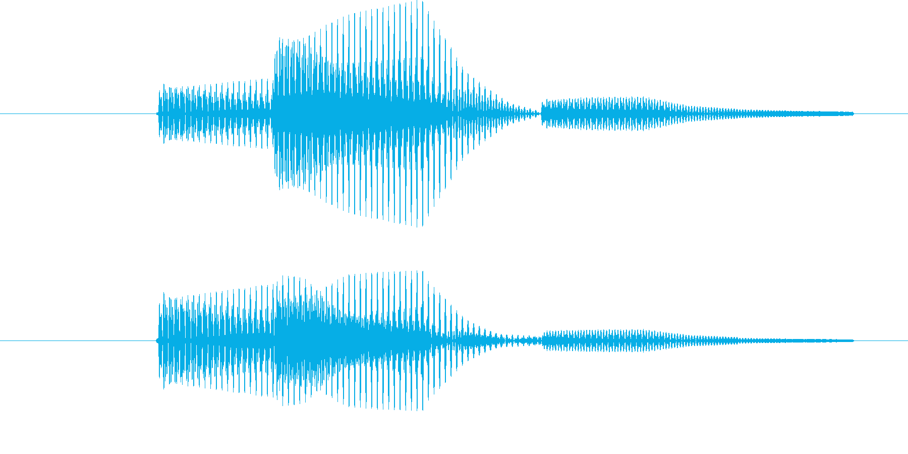 カーソル移動(クセのない音)の再生済みの波形