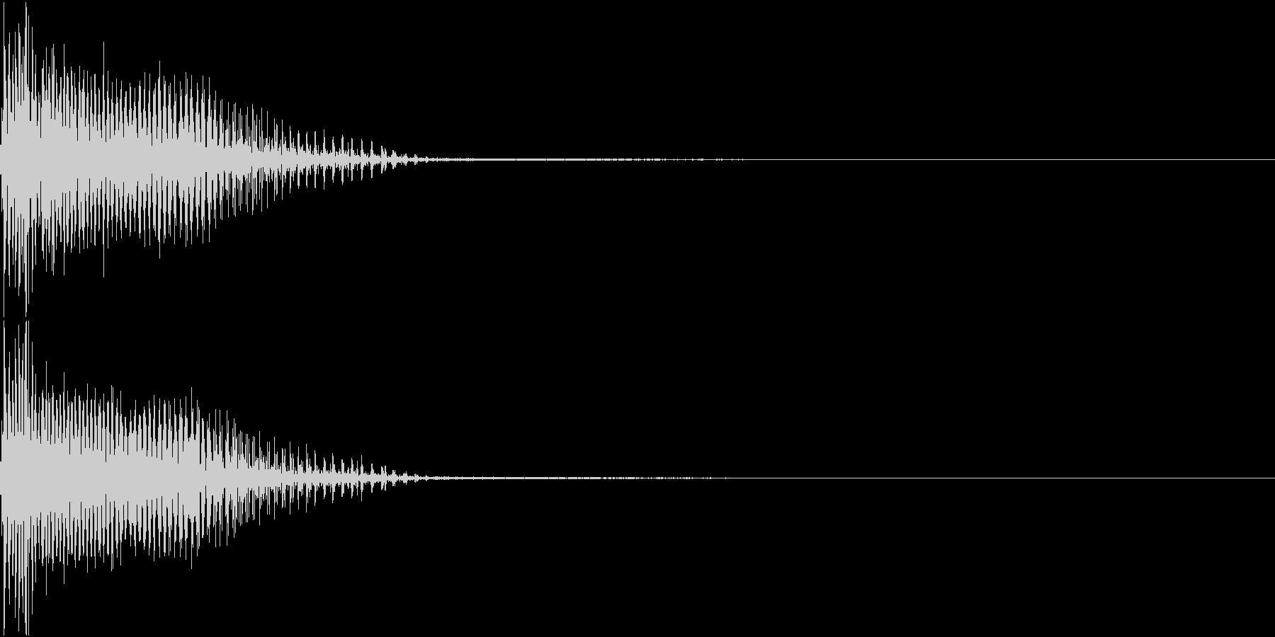 InvaderBuzz 発砲音 28の未再生の波形