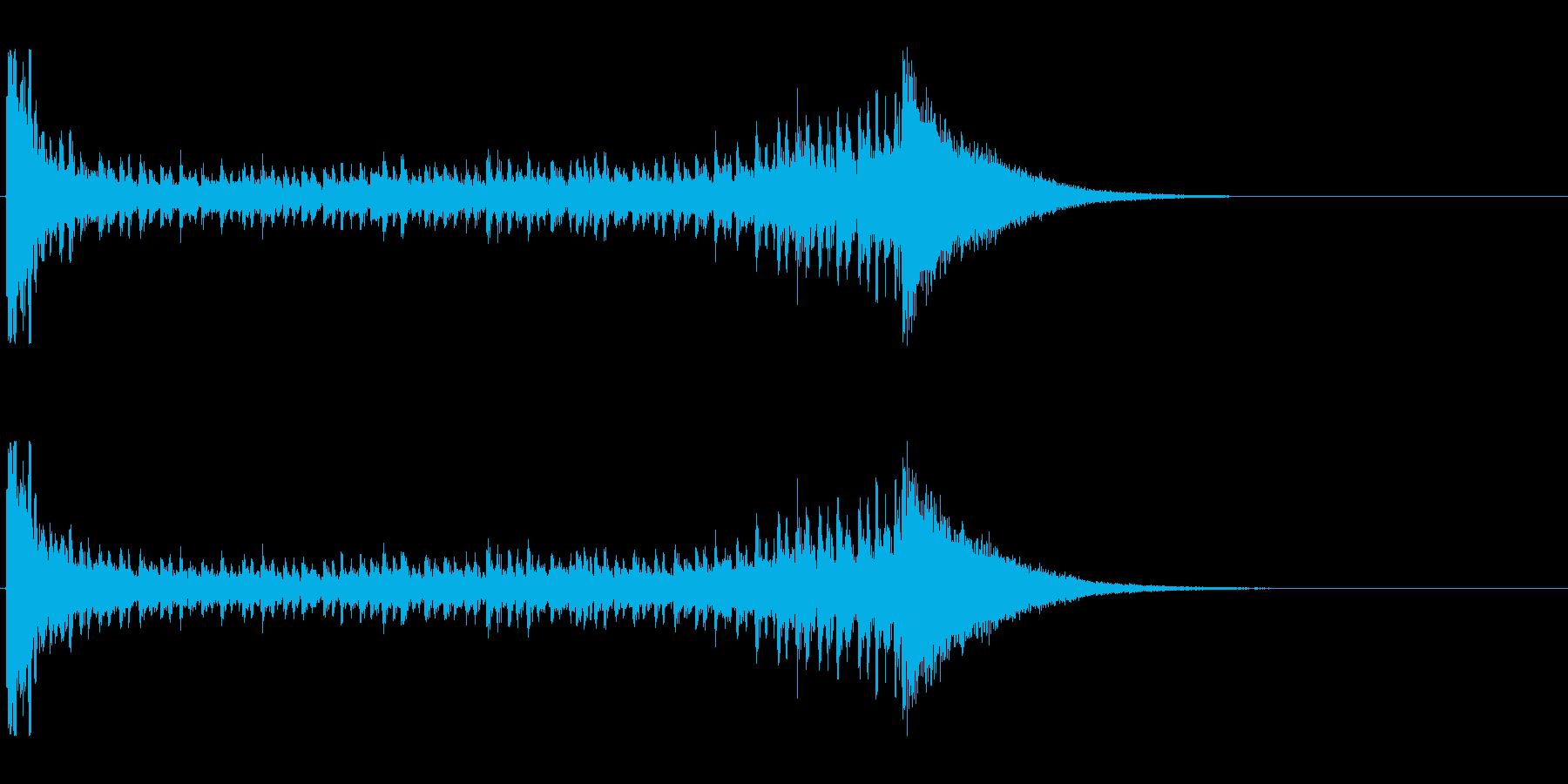 【結果発表01-3】の再生済みの波形