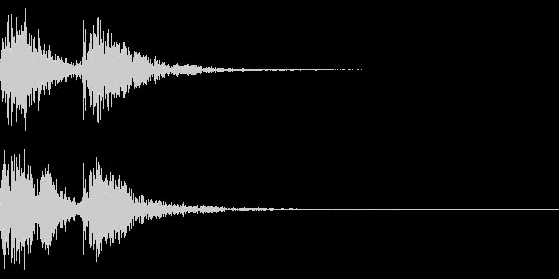 シーンの終わりの未再生の波形