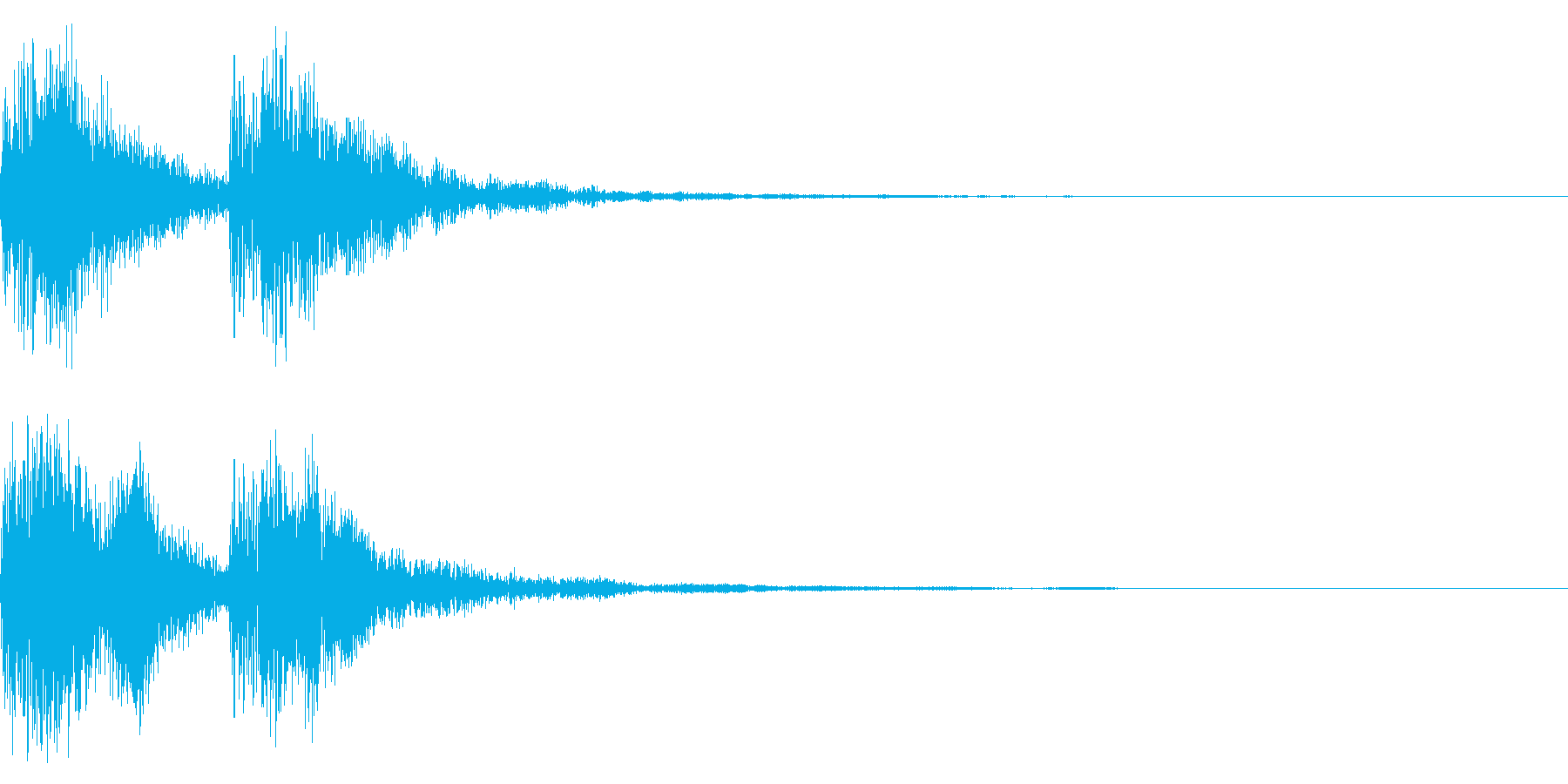 シーンの終わりの再生済みの波形