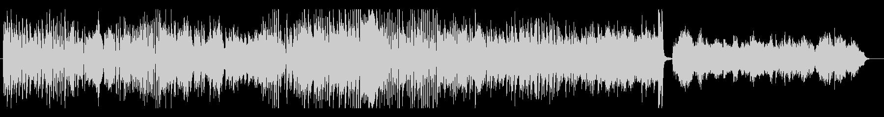 ピアノ連弾によるパワフルなポップスの未再生の波形
