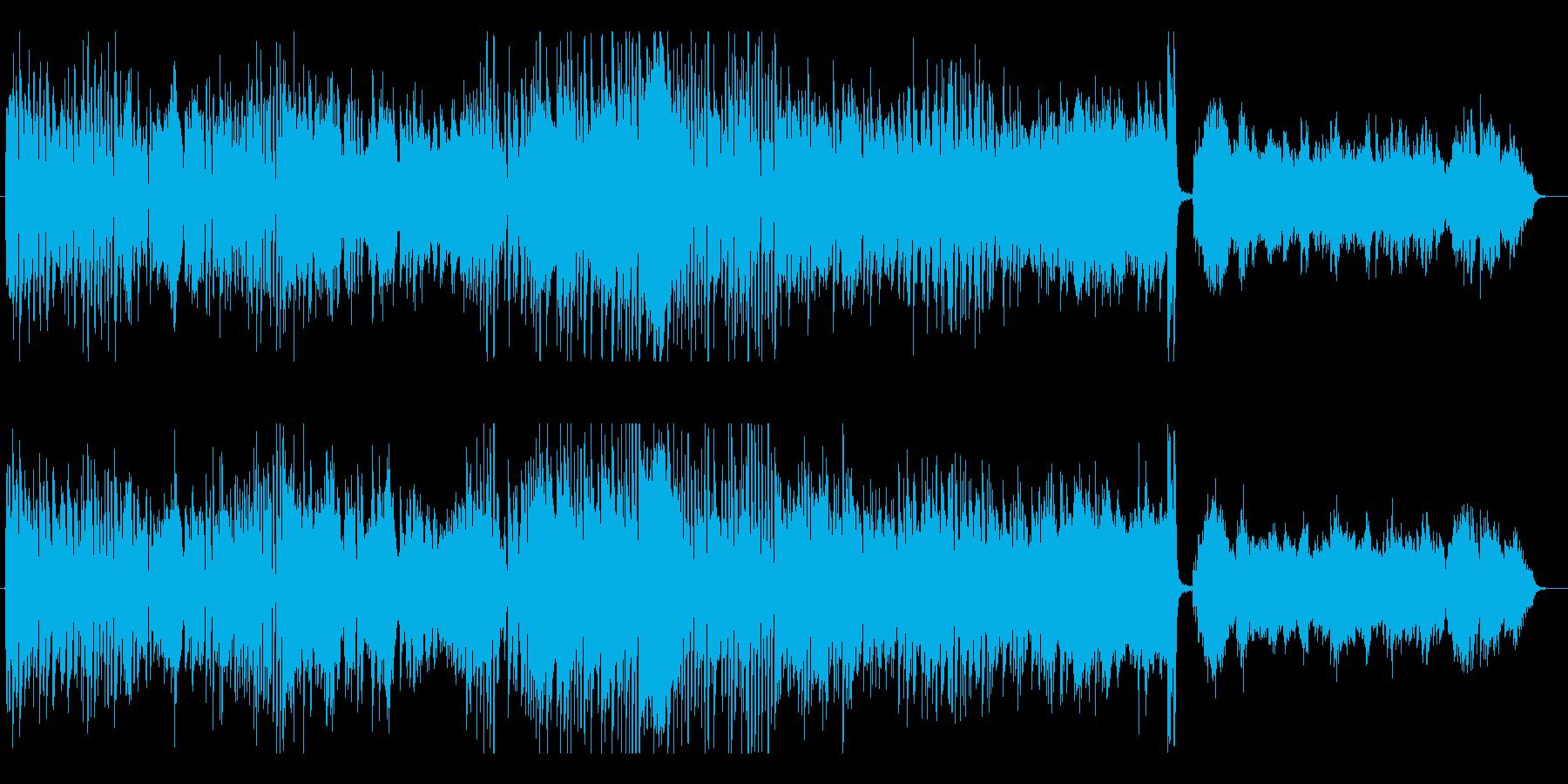 ピアノ連弾によるパワフルなポップスの再生済みの波形