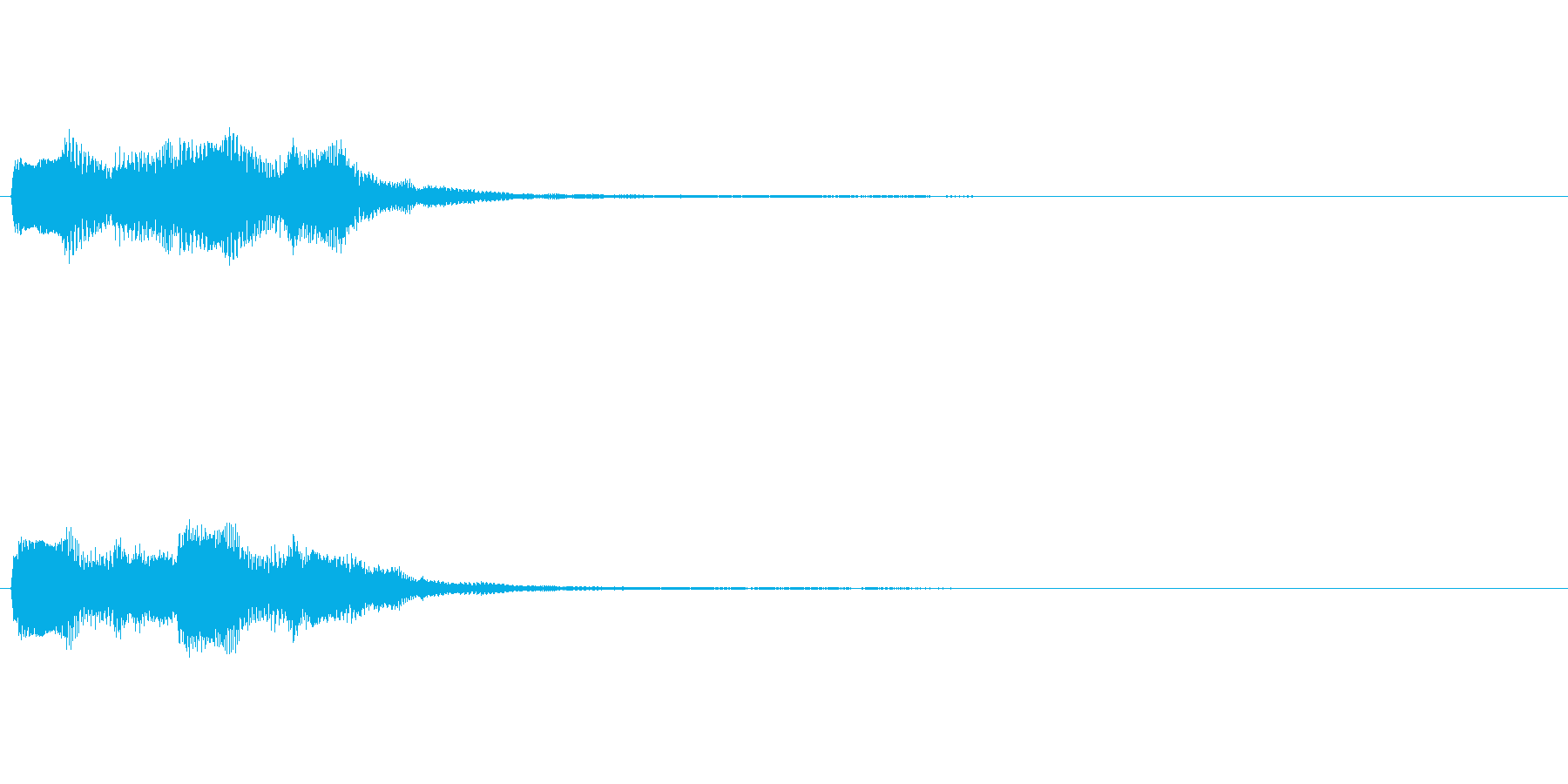 【SE 効果音】てれれてれれの再生済みの波形