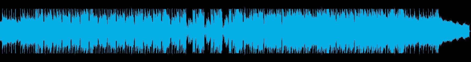 シンセの軽快な旋律が爽快感を与える曲の再生済みの波形