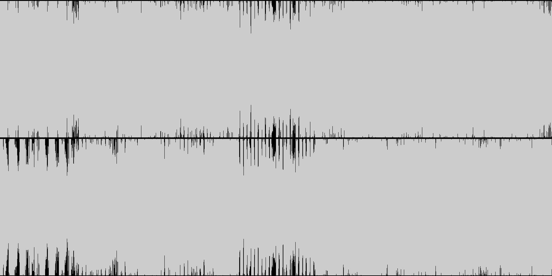 パイプオルガン際立つシンフォニックロックの未再生の波形