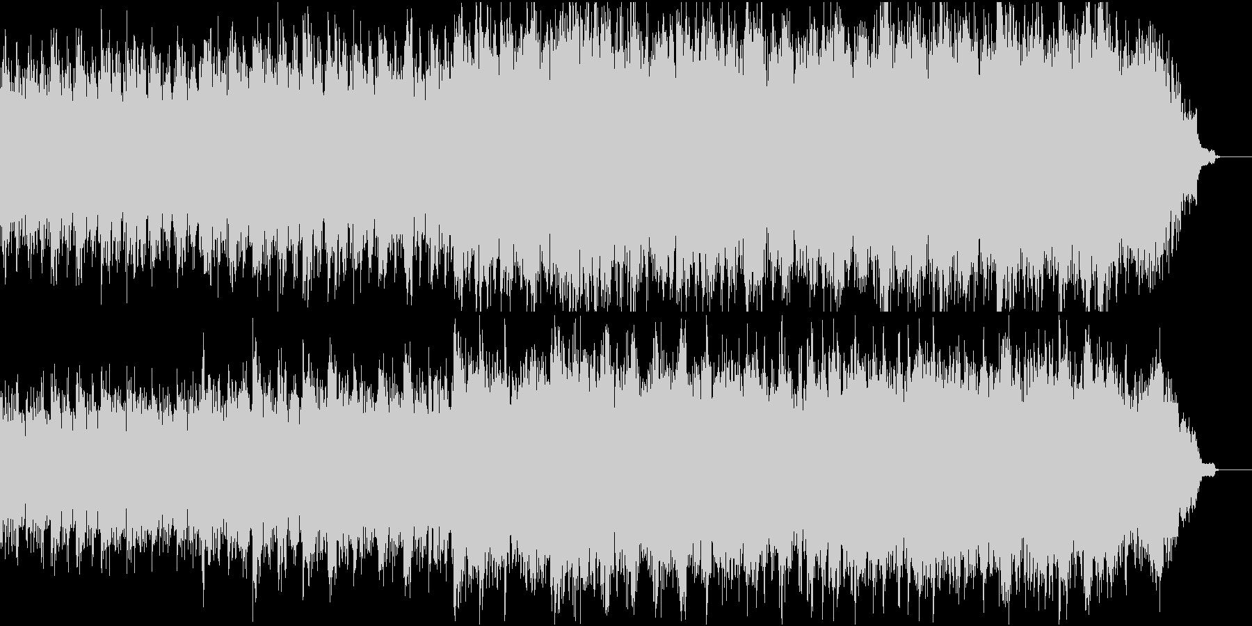 優しく感動的なピアノ+オケ④ピアノ弦のみの未再生の波形
