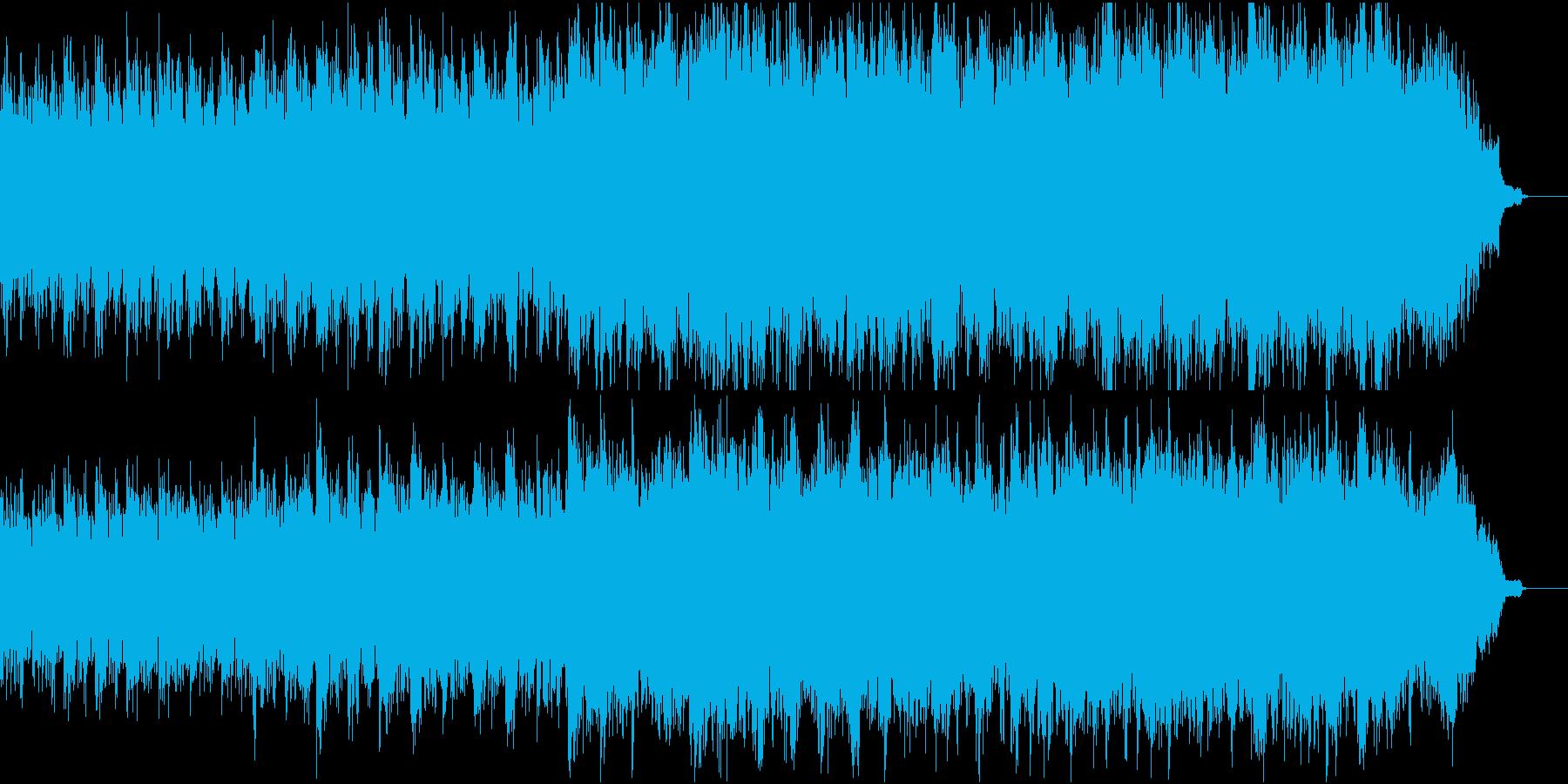 優しく感動的なピアノ+オケ④ピアノ弦のみの再生済みの波形
