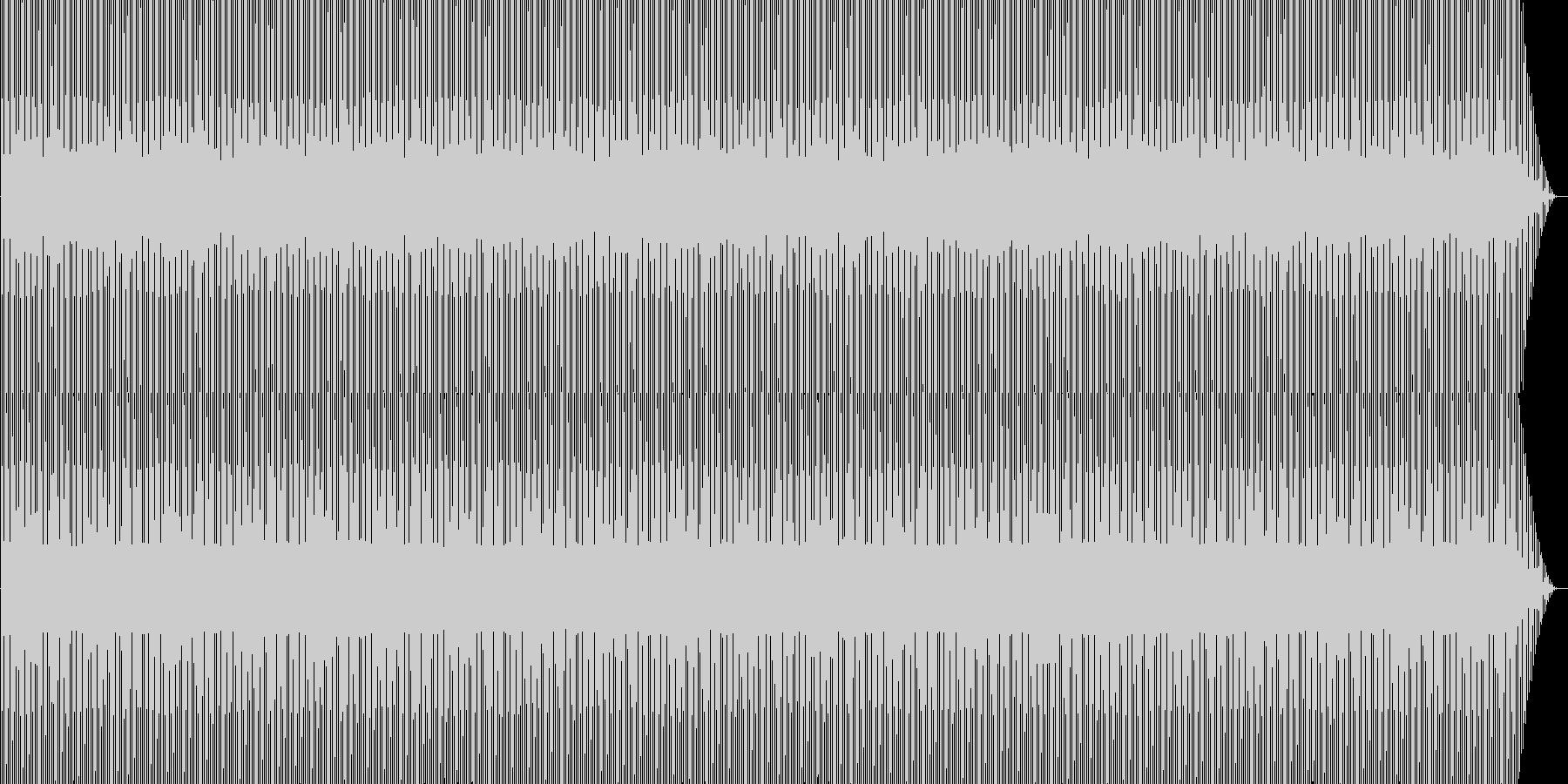 機械的なシンセと4つ打ちの未再生の波形