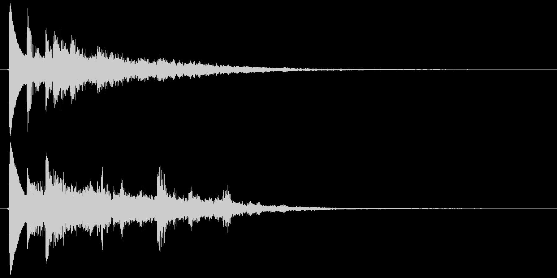 カーソルボタン決定音(最終決定)の未再生の波形