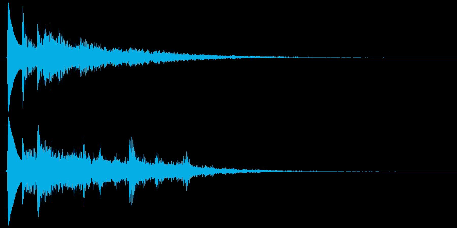 カーソルボタン決定音(最終決定)の再生済みの波形