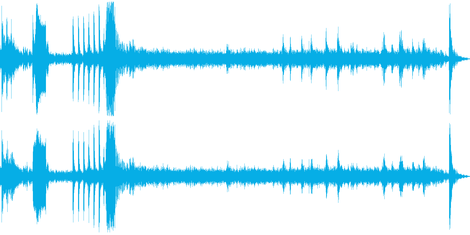 瞬間湯沸かし器生録音の再生済みの波形