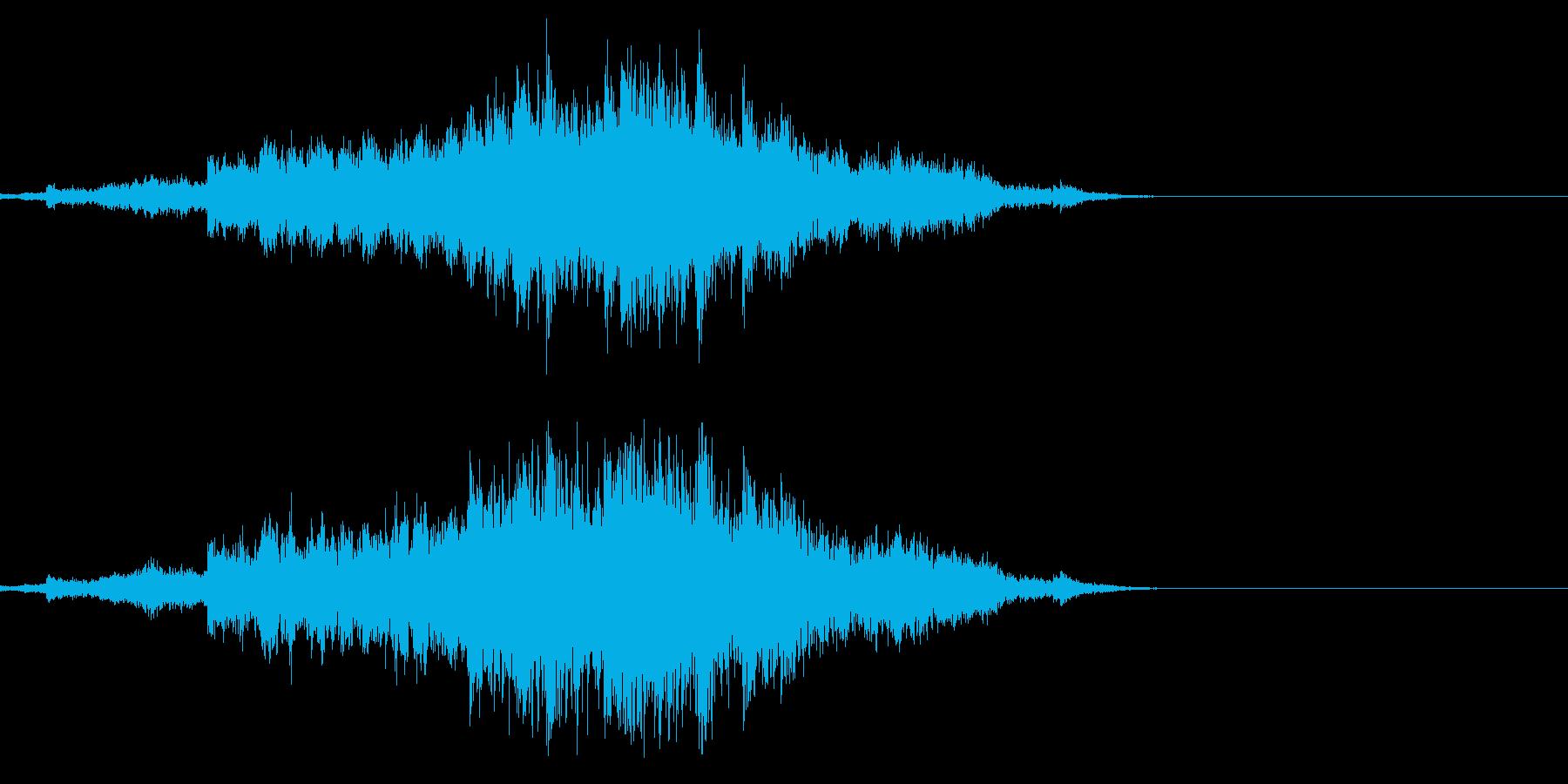 シャララララ・・神楽鈴の効果音の再生済みの波形