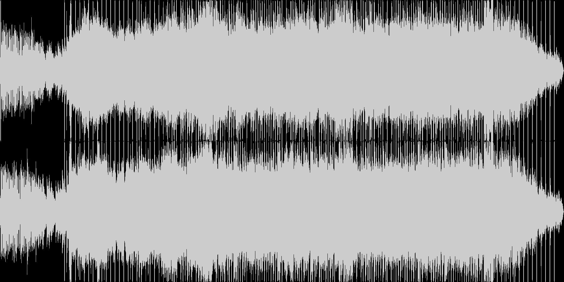 エレクトロでポップな爽やかBGMの未再生の波形
