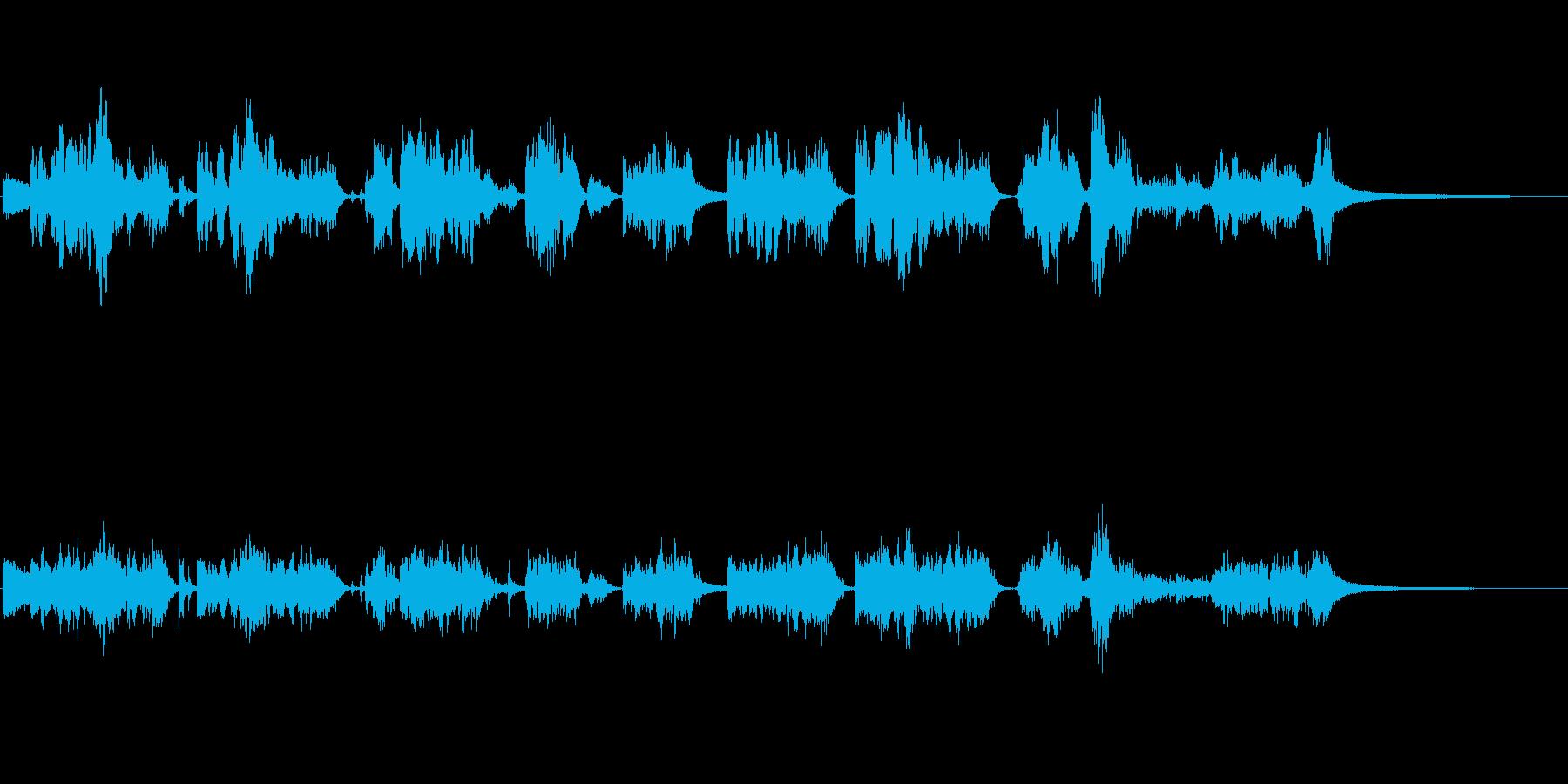 情緒深い中国民族音楽の再生済みの波形