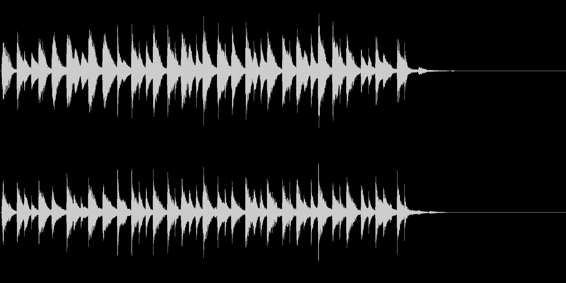 ラテンピアノのジングル、アイキャッチ等にの未再生の波形