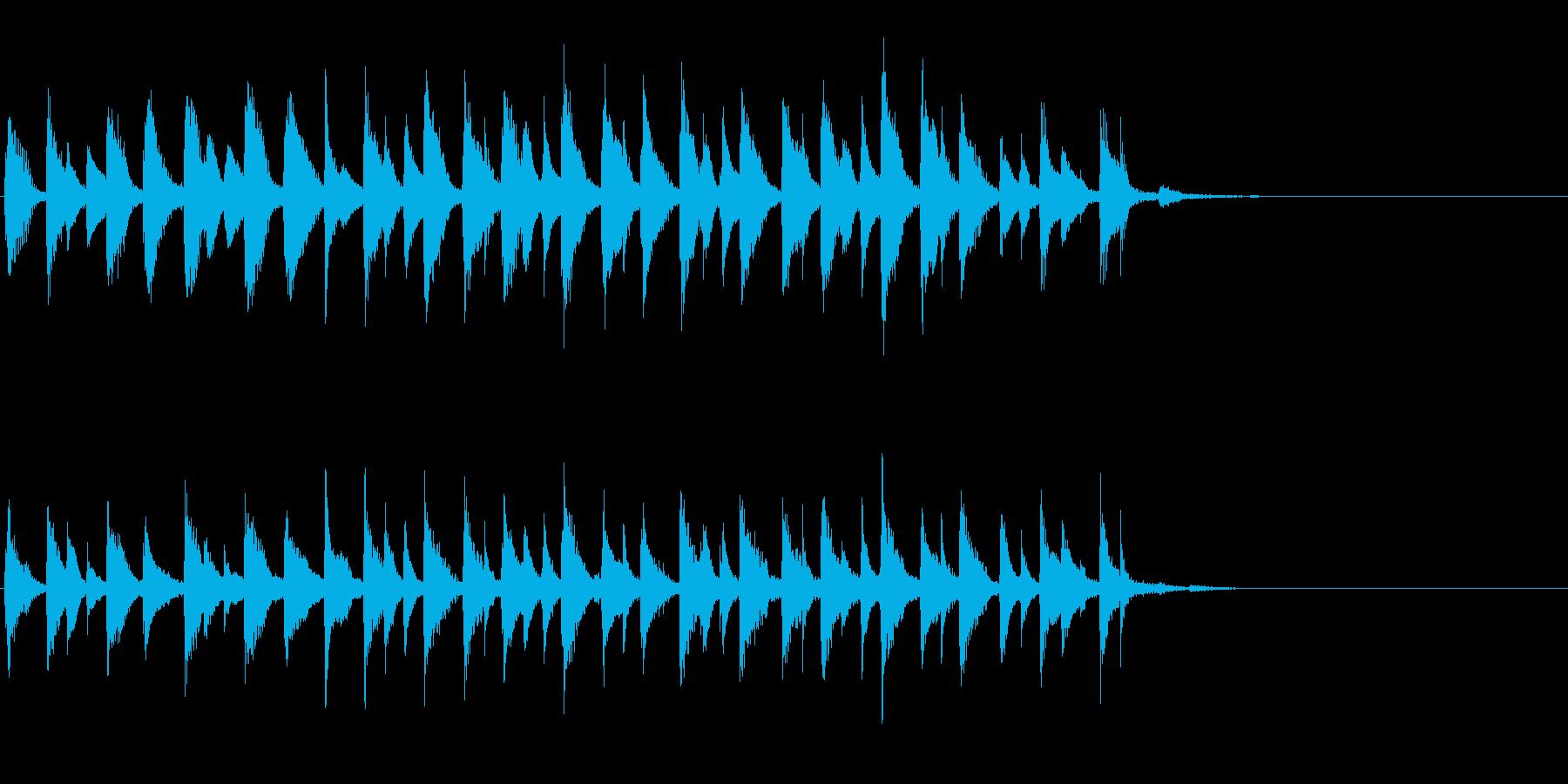 ラテンピアノのジングル、アイキャッチ等にの再生済みの波形