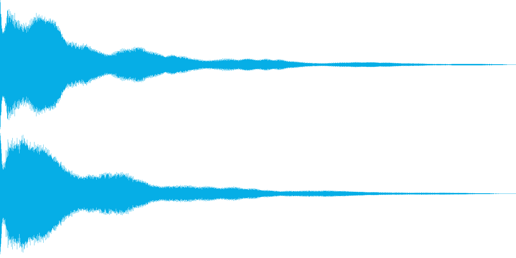 ギャグシーン(あちゃーという感じ)の再生済みの波形