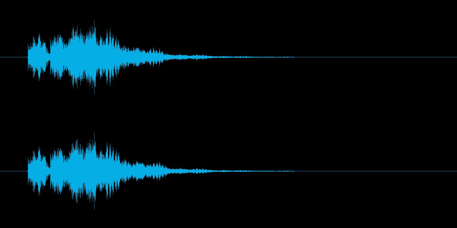 決定/ボタン押下音(和音)の再生済みの波形