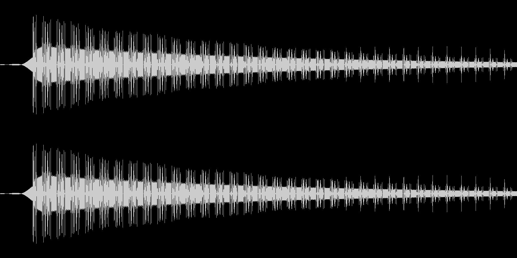 ピッ(選択/カーソル/シンプル/PC)の未再生の波形