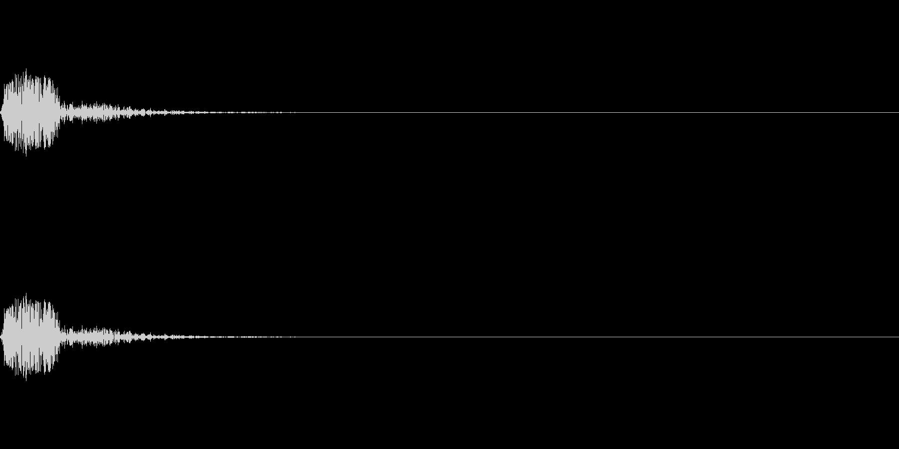 クリック音(カッ/チッ)の未再生の波形