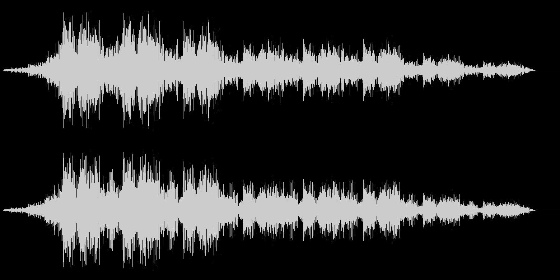 シュンシュン(動きがある音)の未再生の波形
