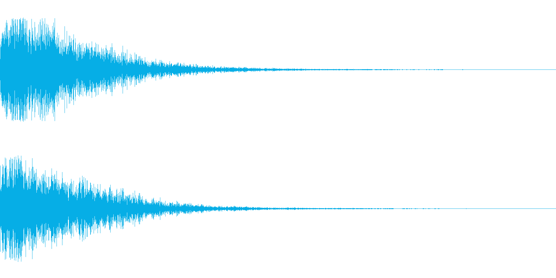 シリアス決定の再生済みの波形